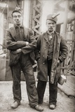 Two Miners Leaving Entrance of Coal Mine Near Scranton, Pennsylvania April 1912 Photo