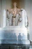 Statue at the Lincoln Memorial During the Inauguration of George H.W. Bush, 1989 Prints