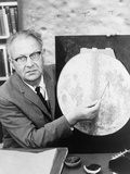 Gerard Kuiper Identified Landing Sites on Moon for NASA's Apollo Missions, 1960s Photo