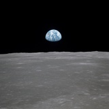 Apollo 11 Earth Rise over the Moon, July 20, 1969 Poster