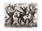 Cartoon of Andrew Jackson's War on the Bank of the United States, 1830s Prints