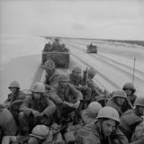 US Marines Arrive on a South Vietnam Via Amphibious Landing Craft, 1966 Prints