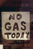 No Gas Today' Sign at an Oregon Gas Station in October 1973 Photo
