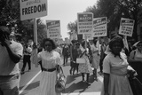 March on Washington, African Americans with Civil Rights Signs, Aug. 28, 1963 Photo