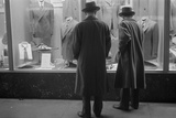 Two Men Window Shopping in Glen Echo, Maryland, 1939 Photo