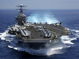 USS Carl Vinson in Indian Ocean During the Second Gulf War, Mar. 15, 2005 Photographic Print