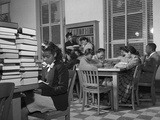 African American Students Reading at Bethune-Cookman College, Feb. 1943 Posters