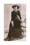 Belle Starr, Female Western Outlaw, Holding a Revolver, Ca. 1880 Photographie