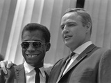 James Baldwin and Marlon Brando at the 1963 Civil Rights March, Aug. 28, 1963 Posters