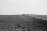 Spring Corn Planting in Jasper County, Iowa. the Horse Drawn Seed Drill is Visible on the Horizon Photo