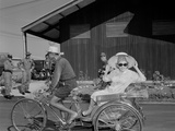 Phyllis Diller Rides in a Tricycle Rickshaw at Korat Air Base, Thailand, Dec.1966 Poster