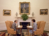 Jimmy Carter and Rosalynn Carter Having One of their Weekly Working Lunches, 1970s Photo