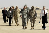 US Officials and Pres. Bush at Al Asad AFB, for Meeting with Iraqis, Sept. 2007 Photo