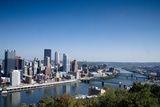 Pittsburgh Skyline and Allegheny River. Oct. 2005 Print