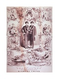 Chang and Eng, World Renowned United Siamese Twins, 1860 Print Prints