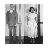 Accused Atomic Spy Julius and Ethel Rosenberg in a Standing Mug Shot, 1951 Photo