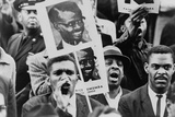 African American Men at a Demonstration Supporting Patrice Lumumba, Jan, 17, 1961 Photo