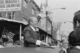 President Gerald Ford Campaigns from the Sunroof of a Car in Philadelphia, Sept. 1976 Print