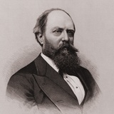 Othniel Charles Marsh Discovered and Named 80 Dinosaur Fossils, 19th C Photo