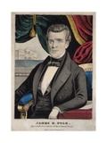James Polk, President of the United States, Lithograph by Charles Currier, Ca. 1845 Prints