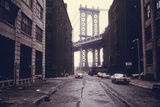 Classic View of the Manhattan Bridge Tower in Brooklyn. June 1974 Photo