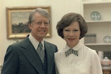 Rosalynn Carter and Jimmy Carter in the White House, Ca. 1977-1980 Photo