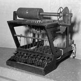 Early Model of a Scoles and Glidden Typewriter, with 18 Keys, Ca. 1870 Posters