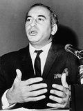 Pakistan's Zulfikar Bhutto at a 1965 Press Conference at the United Nations Prints
