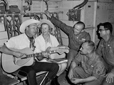 Roy Rogers and Dale Evans Entertain Troops in Vietnam on a USO Tour. Nov. 11, 1966 Photo