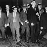 Charles 'Lucky' Luciano (In Center with Head Down) Leaving New York Supreme Court, 1936 Photo