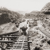 Panama Canal Construction at the Culebra Cut, Panama Canal in 1907 Photo