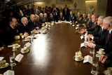 VP Cheney, Pres. Bush and Sec. Gates Meet with the Joint Chiefs of Staff, 2008 Photo