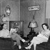 West Virginia Coal Miner's Home Has a Radio and Electric Lights in 1938 Photo