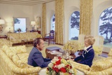 President and Pat Nixon Sitting in the Living Room of Their San Clemente Home, Ca. 1969-74 Photo