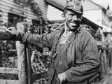 Polish-American Miner, Arriving Home from Work in West Virginia, 1938 Photo