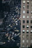 Vehicles on Manhattan's Sixth Avenue at 42nd Street in NYC in 1970s Prints
