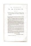 Abolitionist Address by Benjamin Franklin Published on a Nov. 1779 Broadside Print