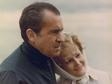 President and Pat Nixon in an Affectionate Moment on the Beach at San Clemente. Jan 13 1971 Photo