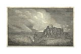 Lewis and Clark's Expedition with Horses on the Great Plains, 1803-6 Print