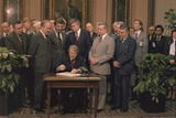 President Jimmy Carter Signs a Social Security Act on Dec. 20, 1977 Photo
