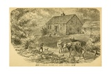 Early Home of the James Boys in Clay County, Missouri, 1840s Prints