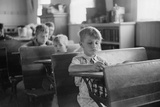 Young Boys at Their Desks in a Rural Wisconsin School. Sept, 1939 Posters