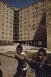 African American Children Outside Stateway Gardens Project in Chicago, 1970s Poster
