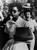 Elizabeth Eckford Is Harassed as She Enters Little Rock Central High, Sept 6, 1957 Photo