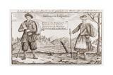 Lutheran Religious Refugees, Fleeing Salzburg, Austria, 1730s Print