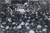 Elizabeth Gurley Flynn (1890-1964), Addressing Paterson Silk Strikers, June 1913 Photo