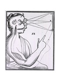 Rene Descartes' Theory of Vision, from 'Treatise on Man' 1677 Prints
