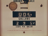 Abandoned Gasoline Pump with a Price of 29.9 Cents Per Gallon, 1970s Poster