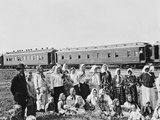 Internal Russian Emigrants Going to Siberia by Train to Start Farms, Ca. 1910 Prints