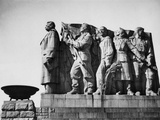 Sculpture of Stalin Leading a Worker, Farmer, Woman and Soldier, Prague, 1962 Prints